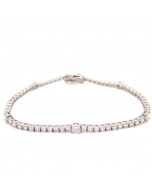 April Diamond Birthstone Bracelet