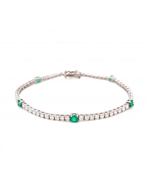 May Emerald Birthstone Bracelet