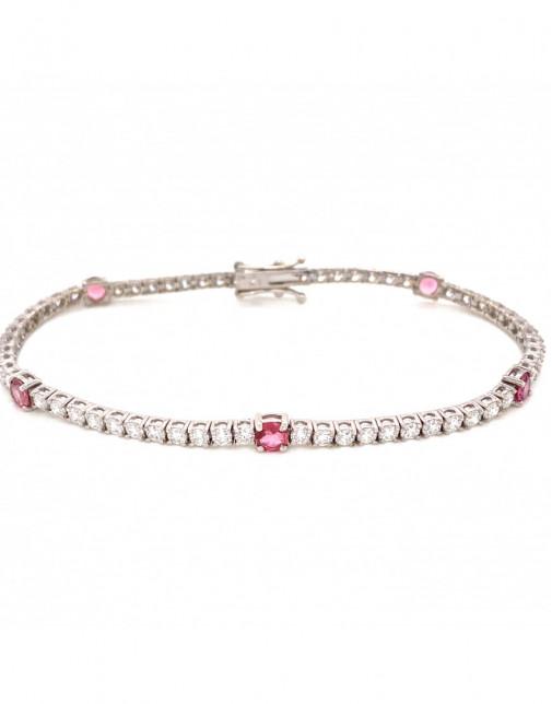 July Ruby Birthstone Bracelet