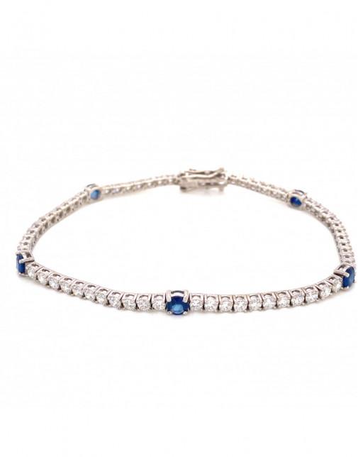 September Sapphire Birthstone Bracelet