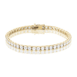 9.25ct Diamond Tennis Bracelet In 18ct Yellow Gold