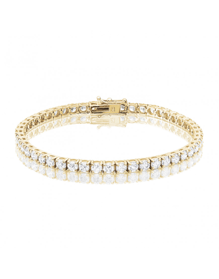 Diamond Anklet With Toe Ring Lc00035 In Anklets From: 9.25ct Diamond Tennis Bracelet In 18ct Yellow Gold