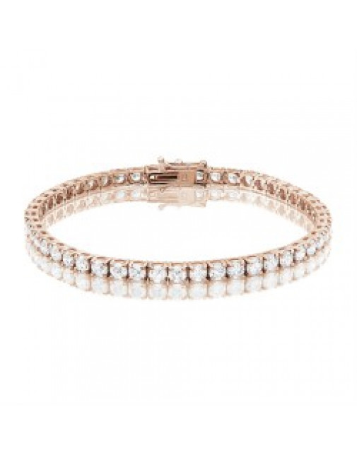 9.25ct Diamond Tennis Bracelet In 18ct Rose Gold