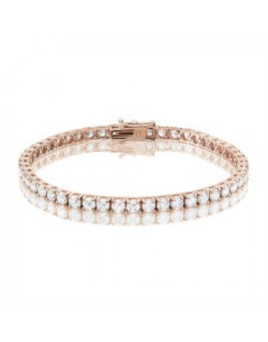 9 25ct Diamond Tennis Bracelet In 18ct Rose Gold