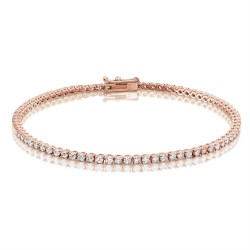 2.25ct Diamond Tennis Bracelets in 18ct Rose Gold