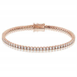 2.75ct Diamond Tennis Bracelets in 18ct Rose Gold