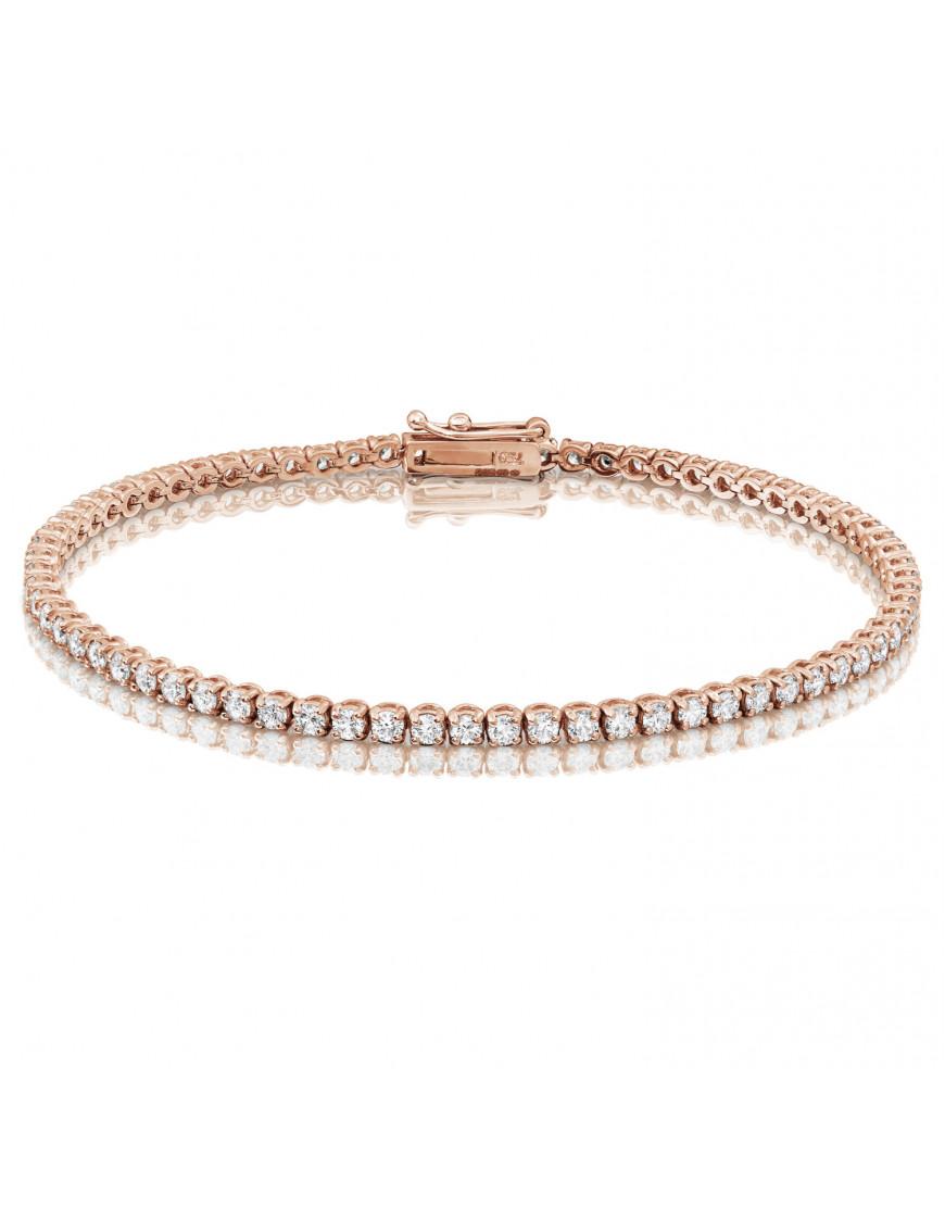 4 50ct Diamond Tennis Bracelets In 18ct Rose Gold