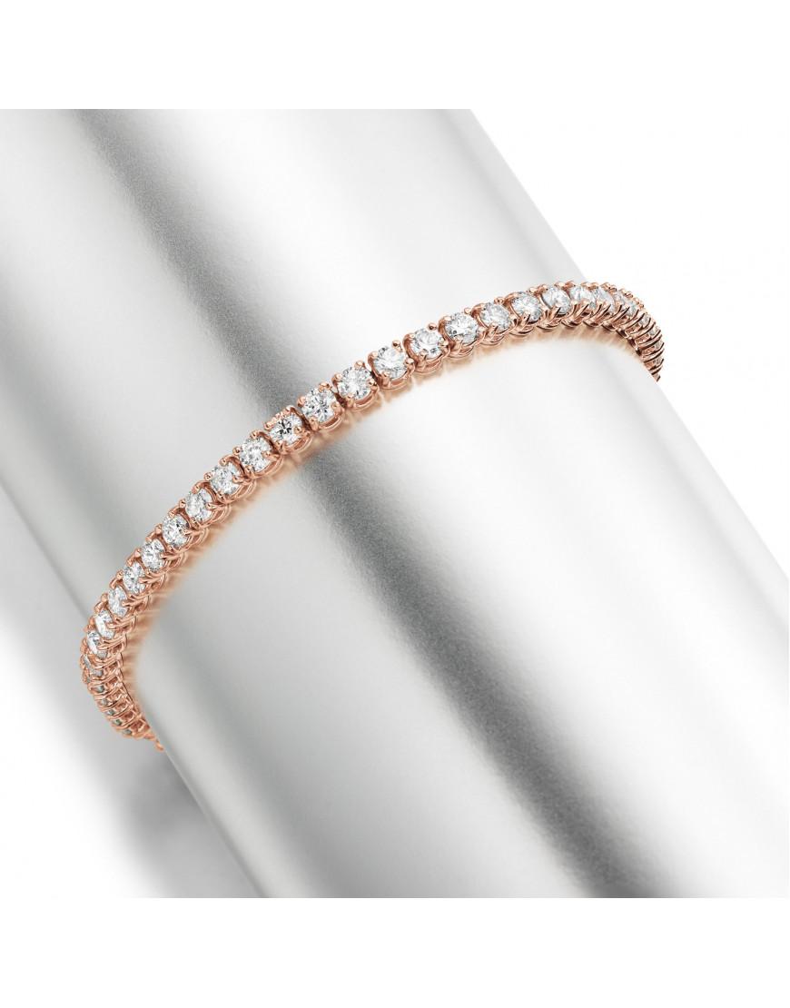 5 3ct Diamond Tennis Bracelet In 18ct Rose Gold