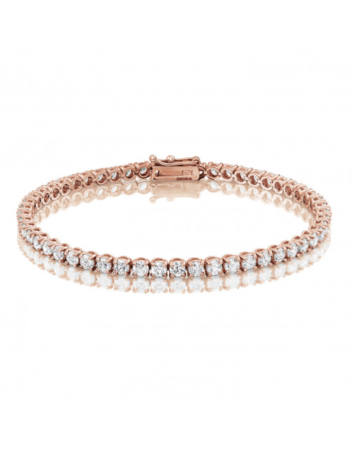5.3ct Diamond Tennis Bracelet In 18ct Rose Gold