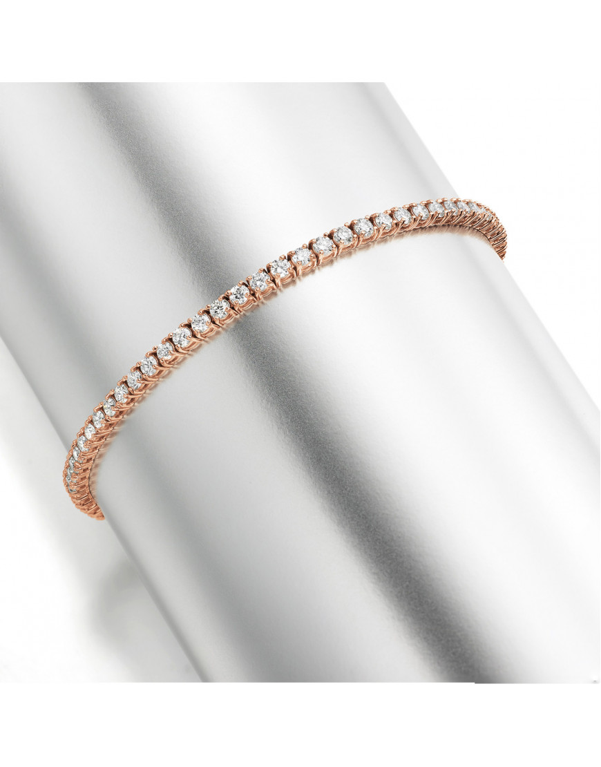 3ct Diamond Tennis Bracelet In 18ct Rose Gold