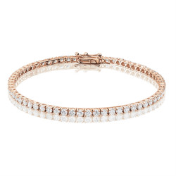 4ct Diamond Tennis Bracelet In 18ct Rose Gold