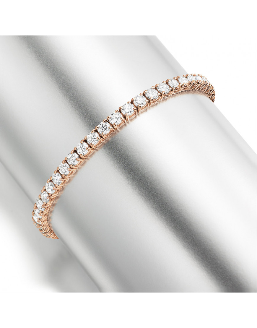9 25ct Diamond Tennis Bracelet In 18ct Rose Gold