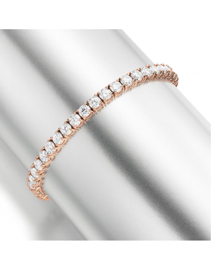 11ct Diamond Tennis Bracelet In 18ct Rose Gold