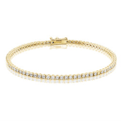 1.60ct Diamond Tennis Bracelets in 18ct Yellow Gold