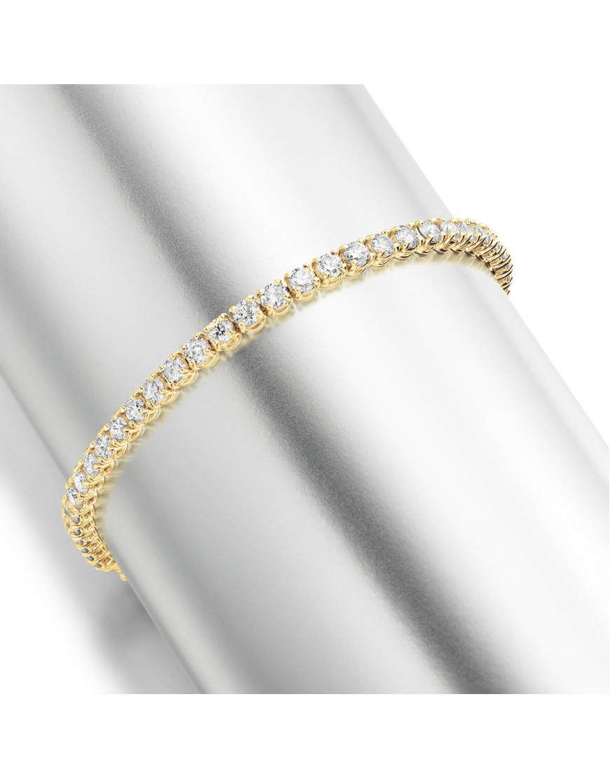 5 3ct Diamond Tennis Bracelet In 18ct Yellow Gold