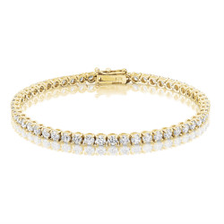 5.3ct Diamond Tennis Bracelet In 18ct Yellow Gold