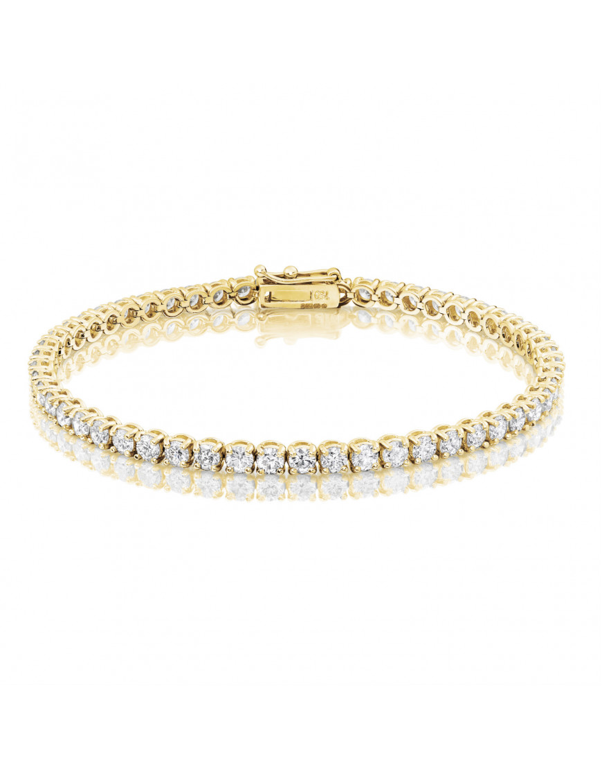5 3ct Diamond Tennis Bracelet In 18ct Yellow Gold