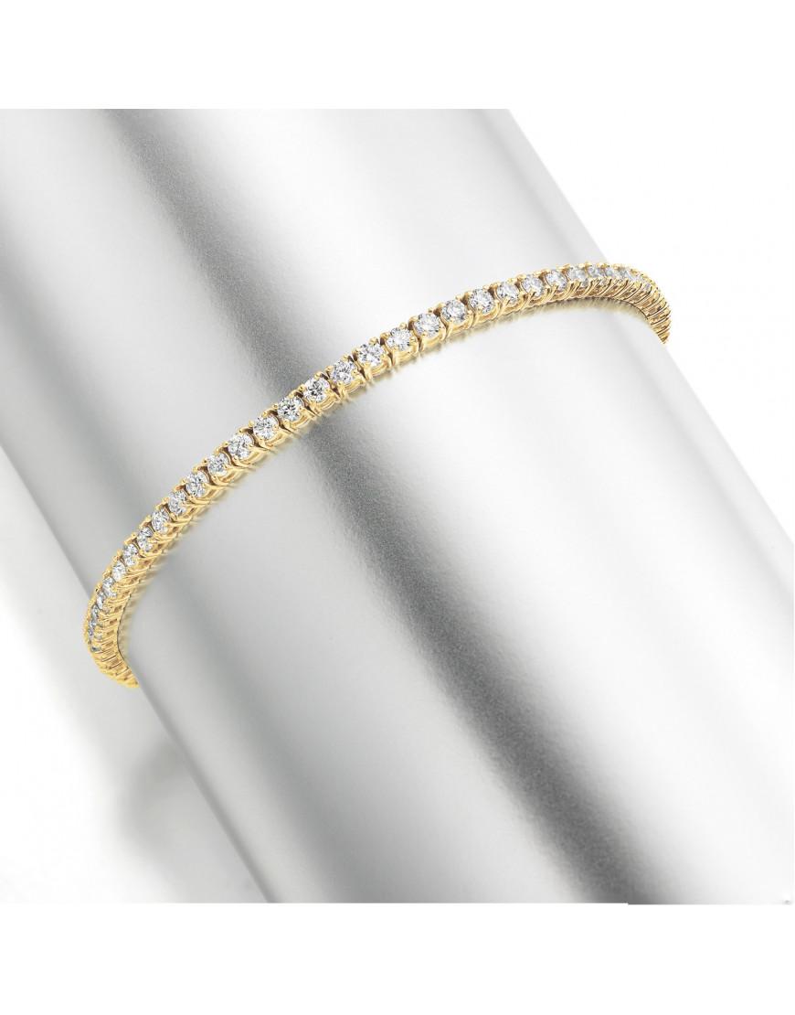3ct Diamond Tennis Bracelet In 18ct Yellow Gold