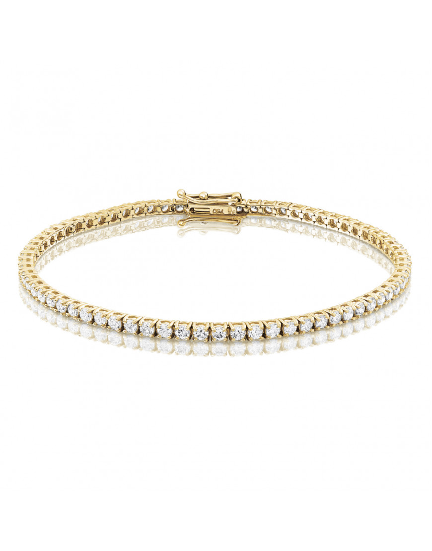 3ct Diamond Tennis Bracelet In 18ct Yellow Gold