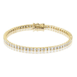 4ct Diamond Tennis Bracelet In 18ct Yellow Gold