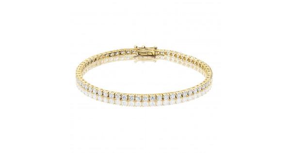 4ct Diamond Tennis Bracelet In 18ct Yellow Gold
