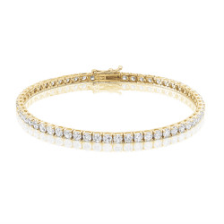 5.8ct Diamond Tennis Bracelet In 18ct Yellow Gold