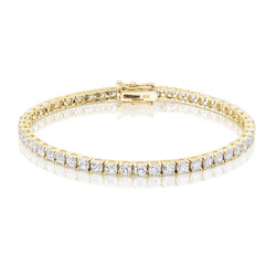 6.6ct Diamond Tennis Bracelet In 18ct Yellow Gold