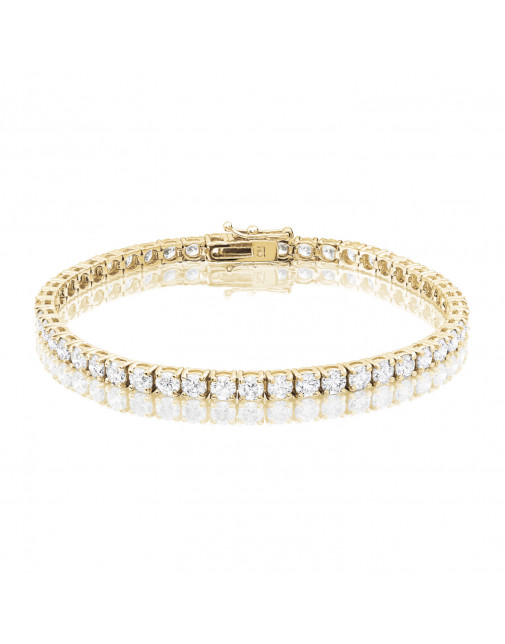 8ct Diamond Tennis Bracelet In 18ct Yellow Gold