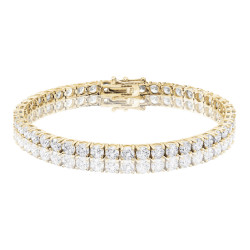 11ct Diamond Tennis Bracelet In 18ct Yellow Gold