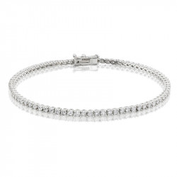 2.25ct Diamond Tennis Bracelets in 18ct White Gold