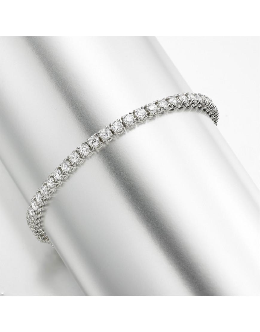 5 3ct Diamond Tennis Bracelet In 18ct White Gold
