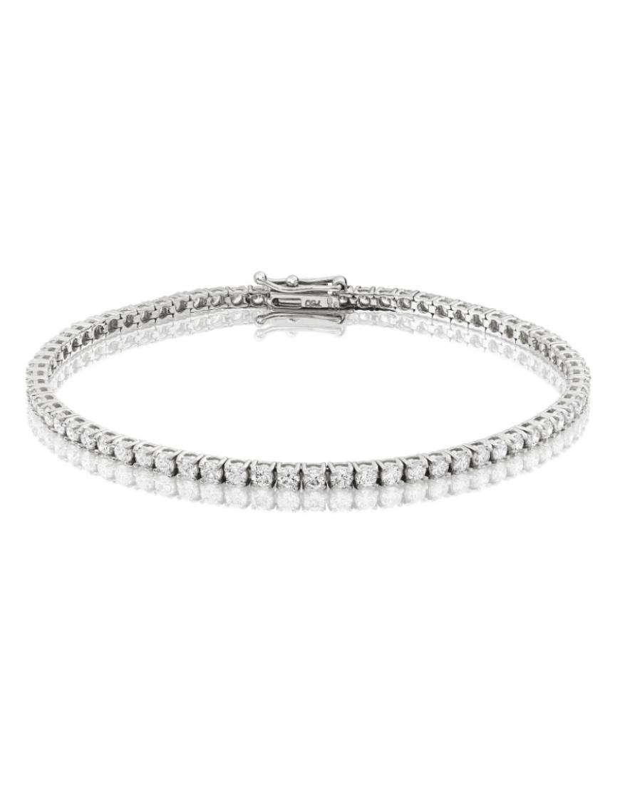 3ct Diamond Tennis Bracelet In 18ct White Gold