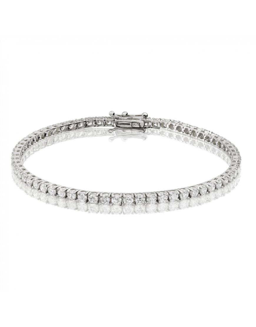4ct Diamond Tennis Bracelet In 18ct White Gold