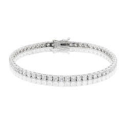 5.8ct Diamond Tennis Bracelet In 18ct White Gold