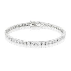 6.6ct Diamond Tennis Bracelet In 18ct White Gold
