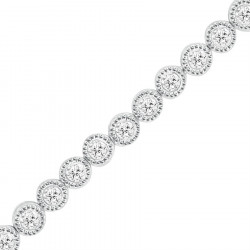 1.00ct Rub-Over Diamond Bracelet in 9ct White Gold