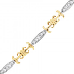 Fancy Shape Style Ladies Diamond Bracelet in 9ct Yellow and White Gold