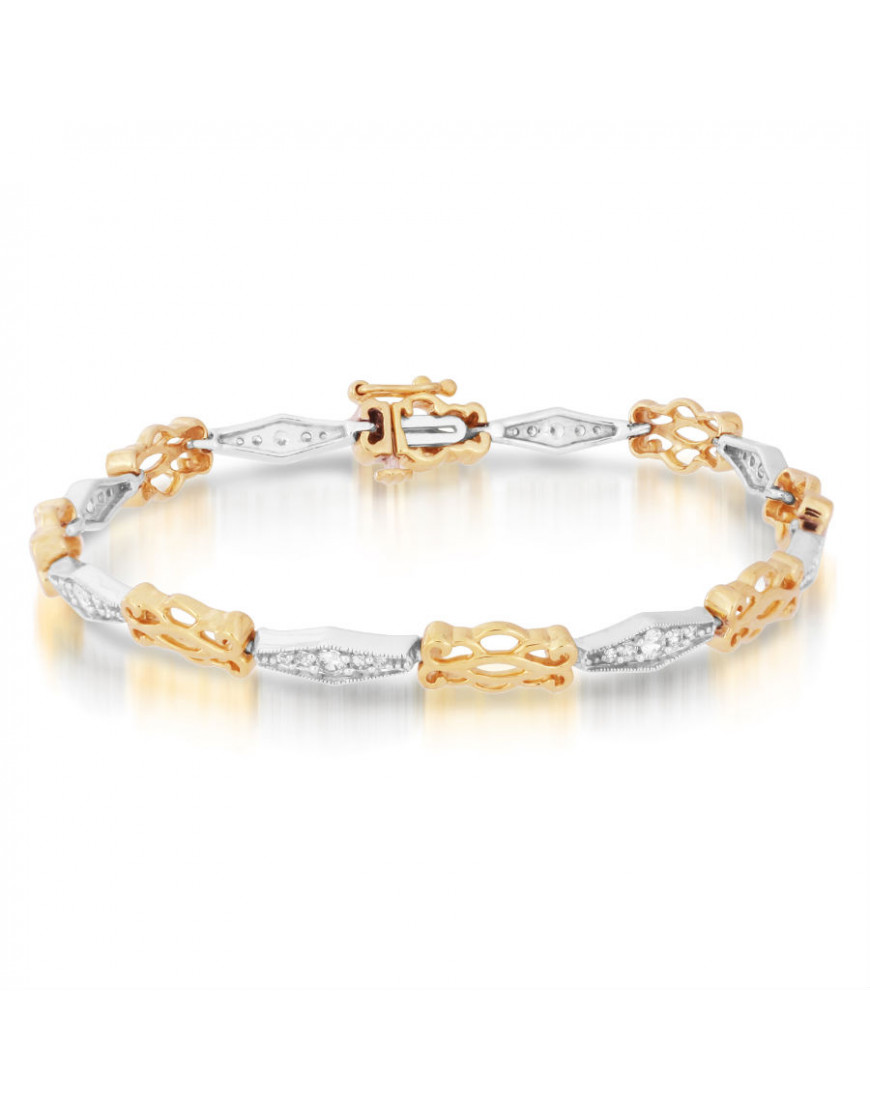 Kiss Style Ladies Diamond Bracelet in 18ct Yellow and ...
