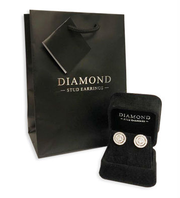 Solitaire Diamond Stud Earrings in a 3-Claw Setting, Set 18ct Yellow Gold. Tdw 0.20ct